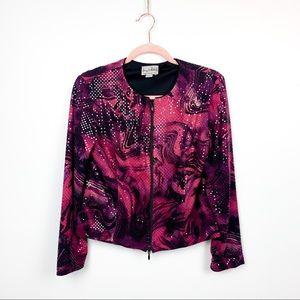 Vintage Joseph Ribkoff Zip-Up Pink/Purple Jacket
